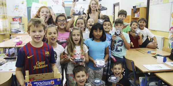 Niños disfrutando con Fresayunando.