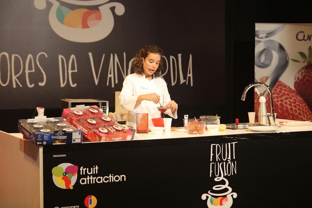 Aina concursante de Master Chef junior en Fruit Attraction con Cuna de Platero