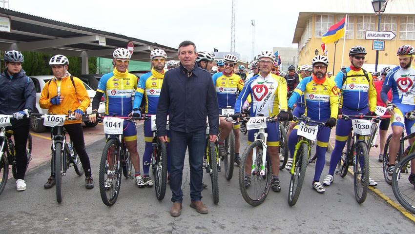 Mauricio Cabeza con el equipo Club Ciclista Platero