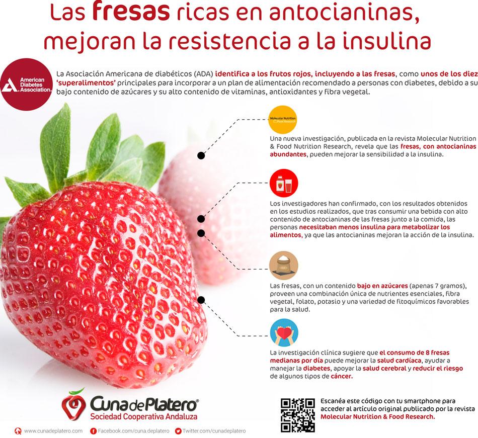fresas buenas para dieta personas diabeticas