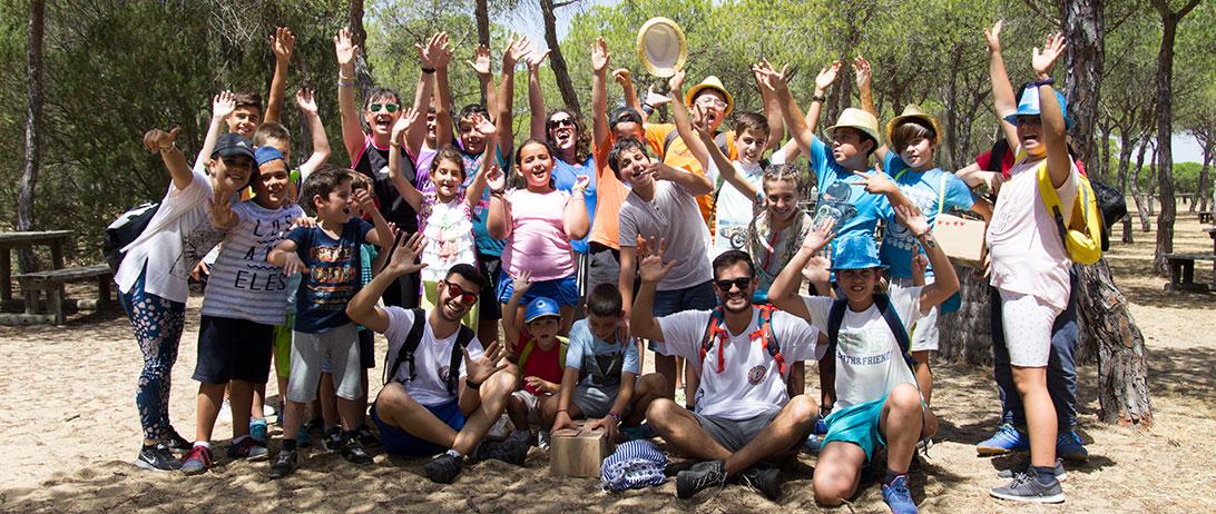 Cuna de Platero cierra el primer turno del Campamento enseñando habilidades sociales y una visita a Doñana