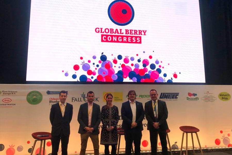 Cuna de Platero expone en Global Berry Congress las oportunidades de las berries españolas