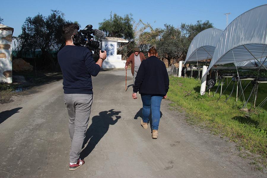 """La agricultura y socia de Cuna de Platero Antonia Soriano, protagonista del programa de Canal Sur """"Campechanos"""""""