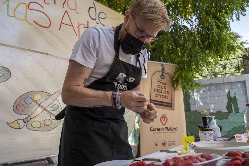 Las fresas de Cuna de Platero inspiran a estudiantes para elaborar un plato propio de Masterchef Junior
